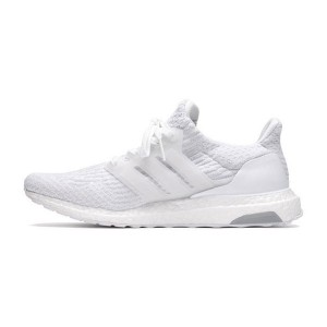 Adidas ultra boost 3.0 triple white sneakers womens and mens running shoes