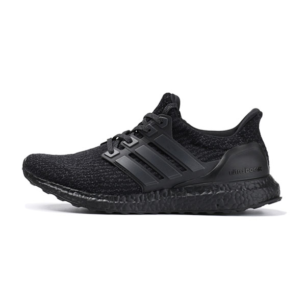 Adidas ultra boost 3.0 triple black sneakers womens and mens running shoes