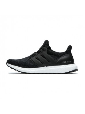 Adidas ultra boost 3.0 core black sneakers womens and mens running shoes