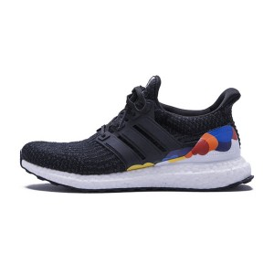 Adidas ultra boost 3.0 LGBT men and women running shoes black rainbow
