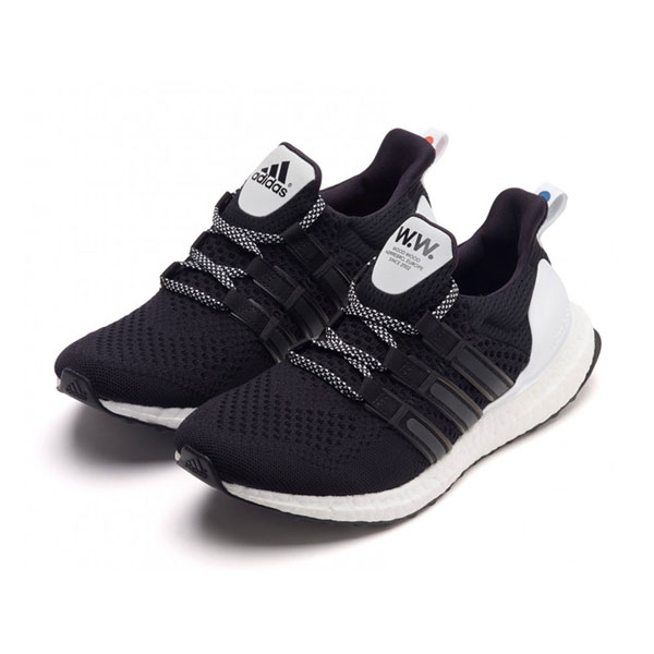 Adidas x wood wood ultra boost men and women running shoes triple black