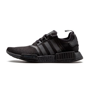 Adidas nmd r1 custom pk boost men and women running shoes triple black