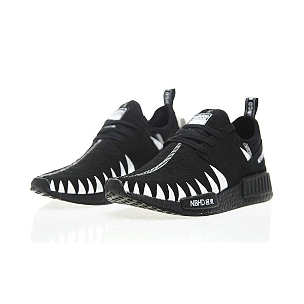 4f5061234 Neighborhood × Adidas nmd r1 pk boost men s running shoes black white