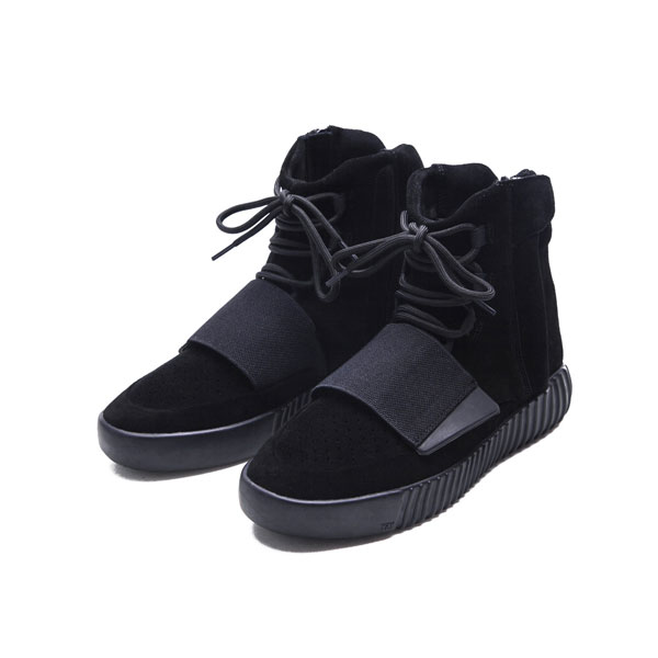 Kanye west x adidas yeezy 750 boost triple black sneakers men's casual shoes