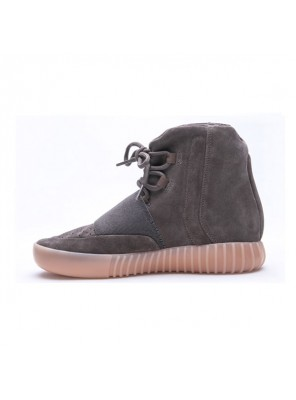 Kanye west x adidas yeezy 750 boost light brown sneakers men's casual shoes