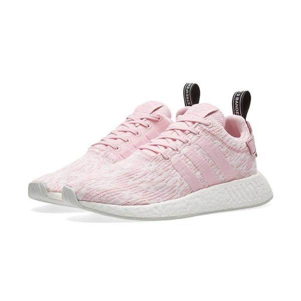 New adidas orignals nmd r2 w boost sneakers women's running shoes triple pink