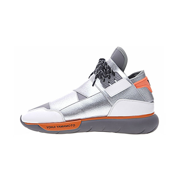 New Adidas orignals Y-3 qasa high yohji yamamoto sneakers for men sliver orange