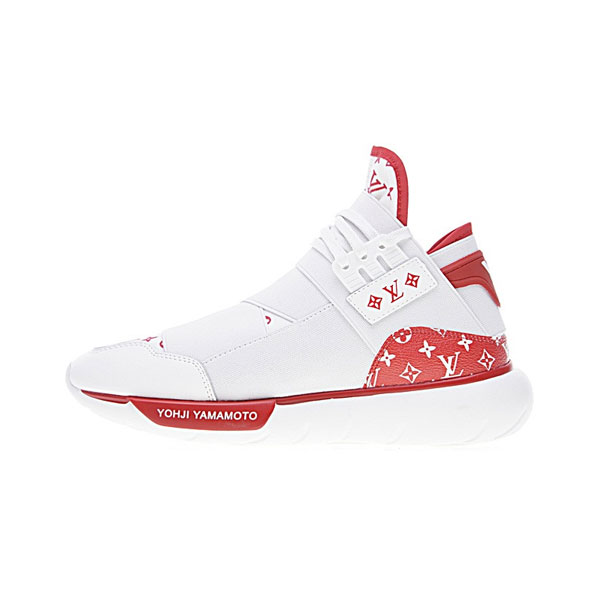 timeless design 391da e7ed3 Louis Vuitton x Adidas Y-3 qasa high yohji yamamoto sports shoes white red
