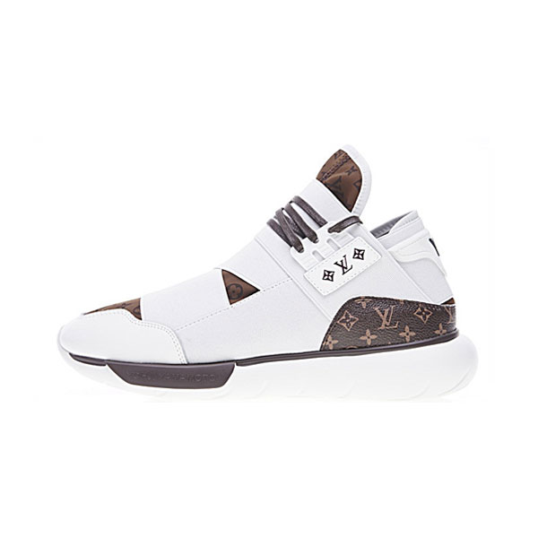 promo code 36f88 4adca Louis Vuitton x Adidas Y-3 qasa high yohji yamamoto sports shoes white brown