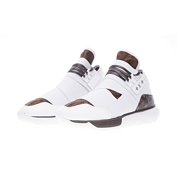 Louis Vuitton x Adidas Y-3 qasa high yohji yamamoto sports shoes white brown