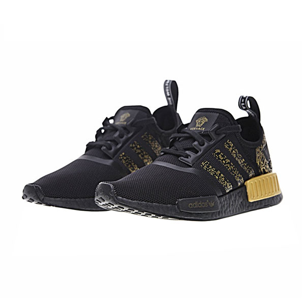 Adidas nmd r1 x Versace boost sneakers men's running shoes core black gold
