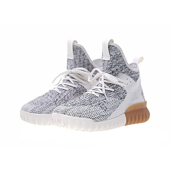 New adidas originals tubular x primeknit runner men's casual shoes white grey