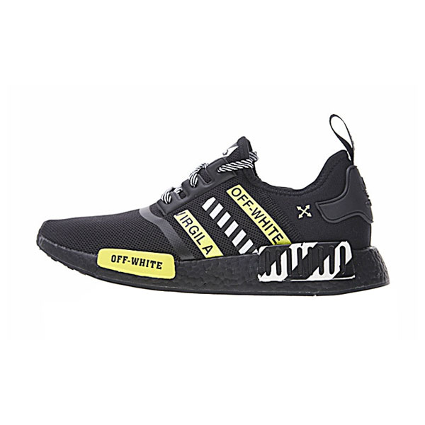 New Limited OFF WHITE x Adidas nmd r1 boost men's running shoes triple black