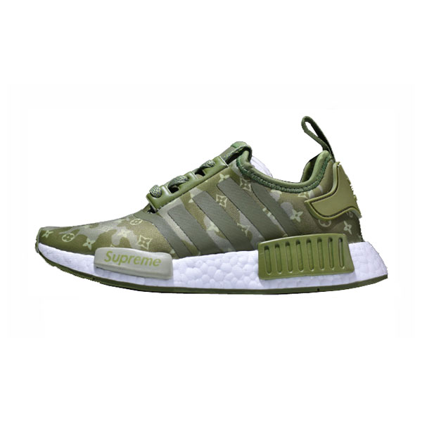 New Limited Supreme x Louis Vuitton x Adidas nmd r1 boost running shoes green