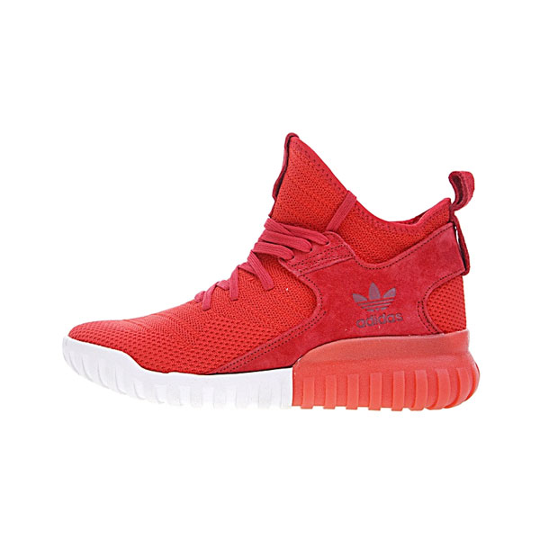 New adidas originals tubular x primeknit runner men's casual shoes core red white