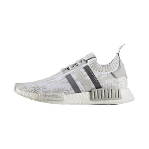 Adidas NMD R1 PK Boost Grey Glitch Camo men and women running shoes white