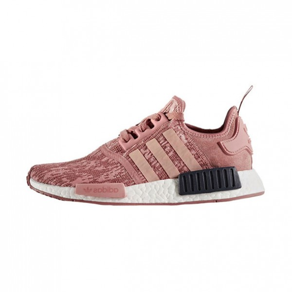 Adidas Originals NMD R1 PK Boost Raw Pink on feet women's running shoes