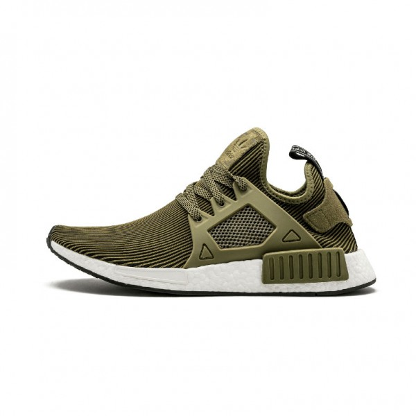Adidas Originals NMD XR1 shoes Primeknit sneakers green stripe S32217