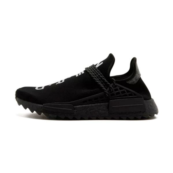 d0e8cedba65c7 NERD x Adidas NMD Hu Trail Human Race men and women running shoes triple  black