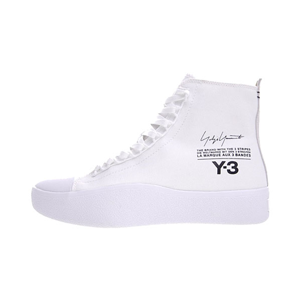New Y-3 Bashyo Trainer High Boots men and women canvas shoes triple white