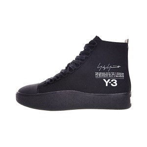 New Y-3 Bashyo Trainer High Boots men and women canvas shoes triple black