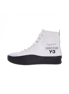 New Y-3 Bashyo Trainer High Boots men and women canvas shoes white black