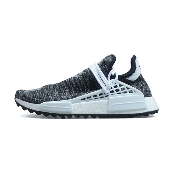 Pharrell Williams x Adidas Human Race NMD Trail Oreo running shoes core black