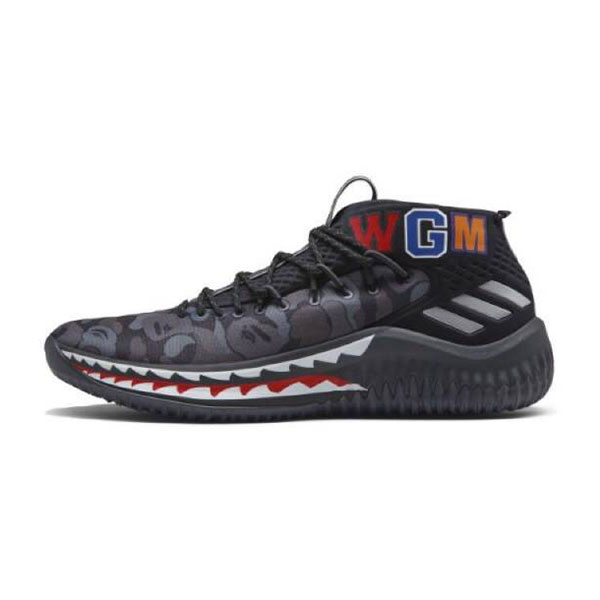 Bape x Adidas Dame 4 Camo Pack Boots Lillard men's basketball shoes black