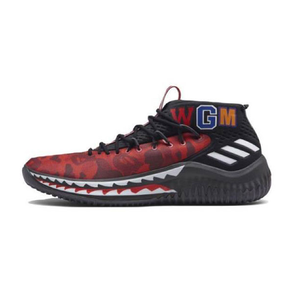 Bape x Adidas Dame 4 Camo Pack Boots Lillard men's basketball shoes red