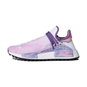Pharrell Williams x Adidas Originals NMD Hu Pink Glow men and women running shoes