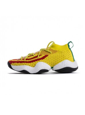 Pharrell Williams x Adidas Crazy BYW boost sneaker men's basketball shoes yellow