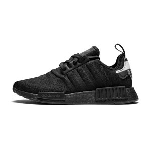 Adidas Originals Nmd R1 Primeknit Triple Black Men's Running Shoes BD7745