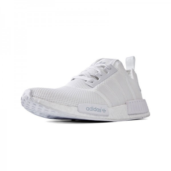 Adidas NMD R1 runner women's and men's sneakers triple white S79166