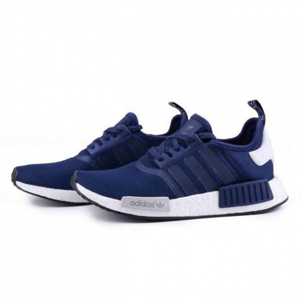 Adidas NMD R1 men's running shoes navy white McGrady style S79161