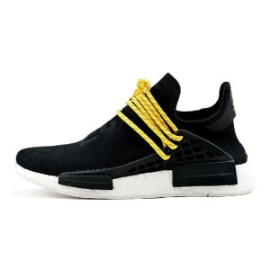 Pharrell Williams Adidas NMD human race running shoes black BB3068