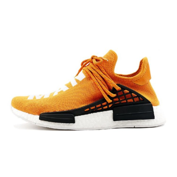 Pharrell Williams Adidas NMD human race sneakers tangerine BB3070