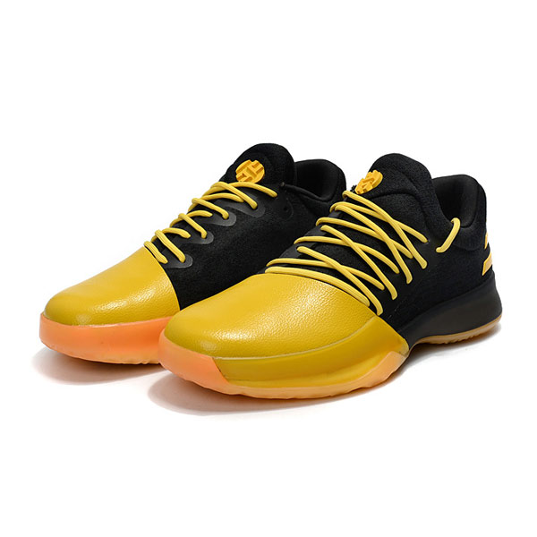 New Color Adidas Harden Vol.1 Fear The Fork basketball shoes black yellow