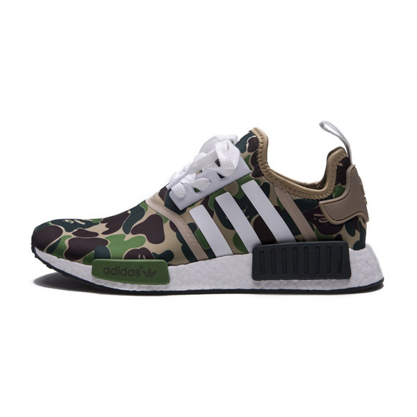buy online 3453b 768a1 Bape x Adidas Originals NMD R1 Sneakers Camo Green Limited ...