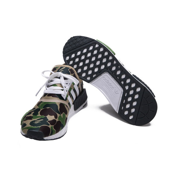 Bape x Adidas Originals NMD R1 Sneakers Camo Green Limited version BA7326