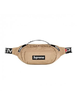 Supreme 18SS 44th Waist Bag Men And Women Logo Messenger Bag Khaki