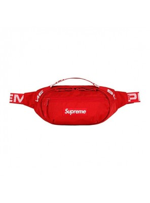 Supreme 18SS 44th Waist Bag Men And Women Logo Messenger Bag Red