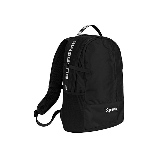 Supreme 18SS 44th Backpack Men And Women Logo Messenger Bag Black