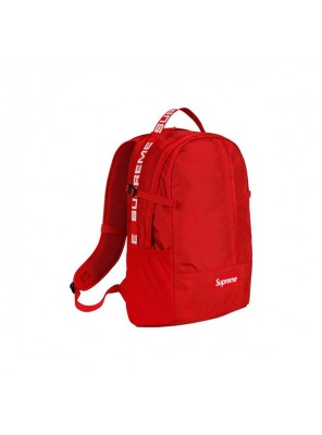 Supreme 18SS 44th Backpack Men And Women Logo Messenger Bag Red