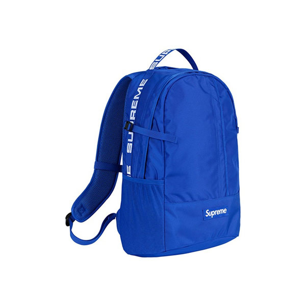 Supreme 18SS 44th Backpack Men And Women Logo Messenger Bag Blue