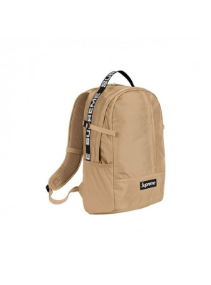 Supreme 18SS 44th Backpack Men And Women Logo Messenger Bag Khaki