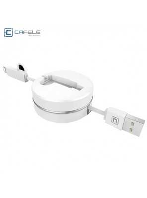 Apple iphone6 / 7 mobile phone fast charge line two-in-one data cable white