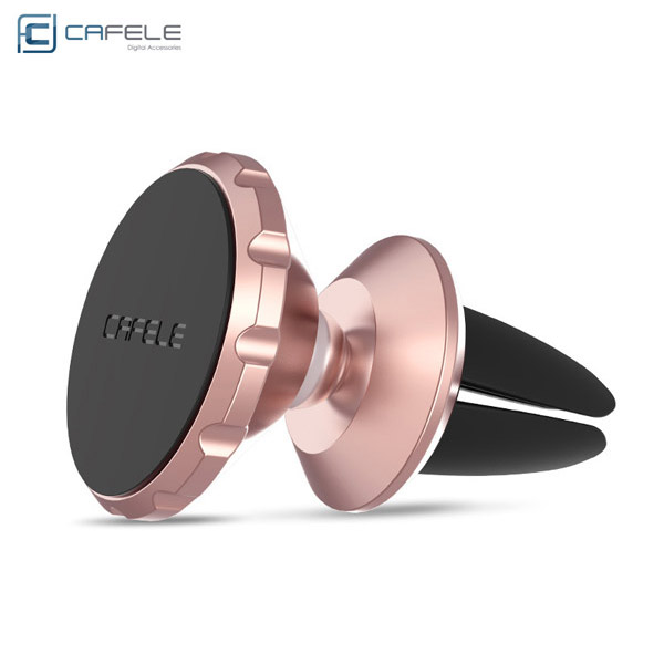 Multi-function car stand 360 degree rotating mobile phone stand for car red
