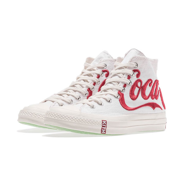 67f1437dfaae9a KITH x Coca-Cola x Converse Chuck Taylor All Star 70s high tops sneakers  white red