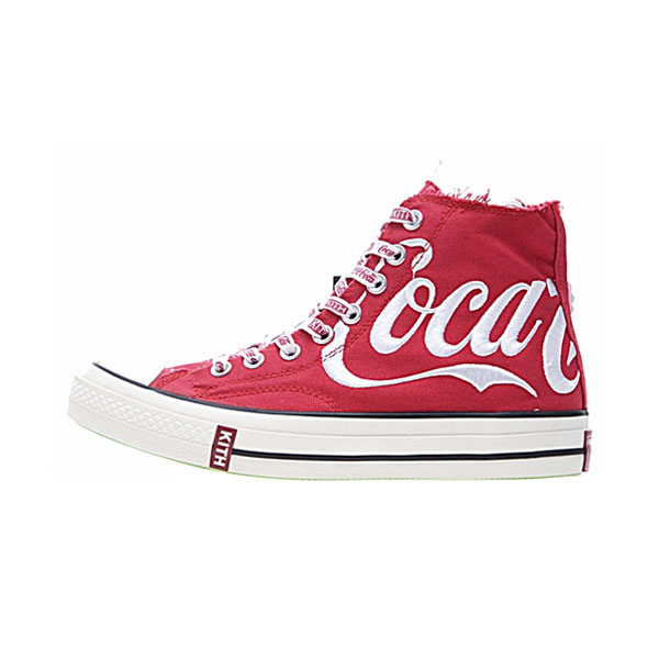 2ff08f33a7d4 KITH x Coca-Cola x Converse Chuck Taylor All Star 70s high tops sneakers red  white