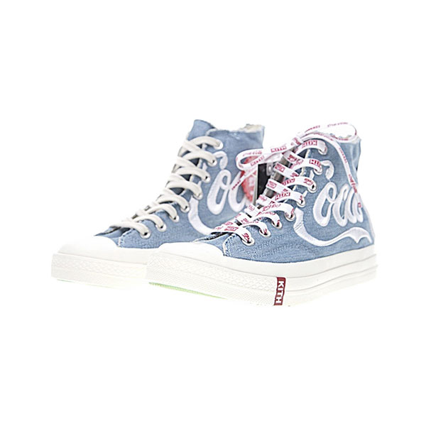 KITH x Coca-Cola x Converse Chuck Taylor All Star 70s high tops shoes blue white